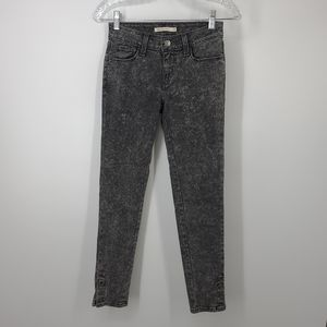 Levis 535 Super Skinny Gray Stone Wash Jeans 25